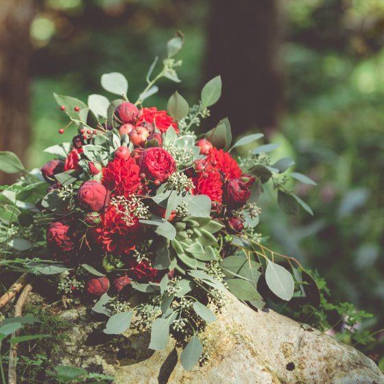 Blütenzone Hochzeitsstrauß